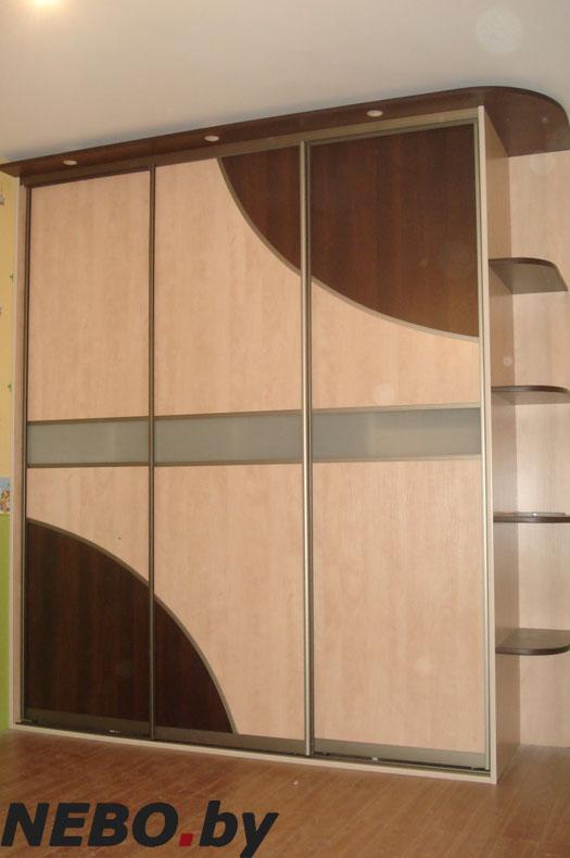 Шкаф-купе с затемненными углами - купить линейные шкафы-купе.